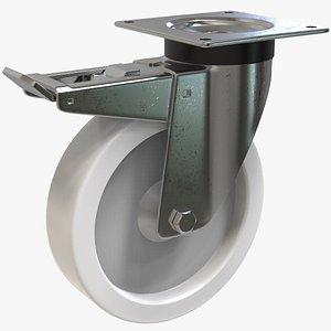 3D model Swivel Caster With Brake