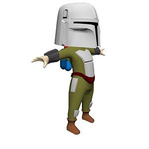 mandalorian star wars 3D model