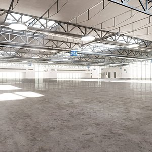 warehouse hangar building 3D model