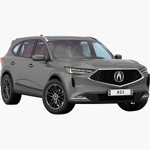 Acura MDX 2022 Opening doors and trunk 3D