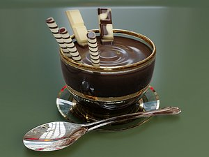 chocolate glass cup 3D model