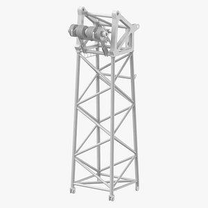 3D crane s head section model