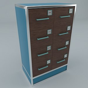 realistic medical archive cabinet model