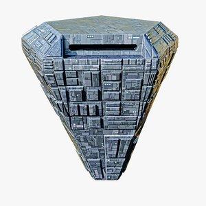 pentagon space station spaceship spacecraft 3D