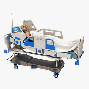 3D model patient medical bed