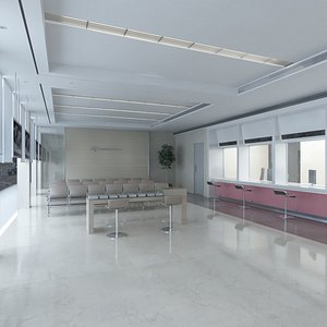 3D model bank branch office