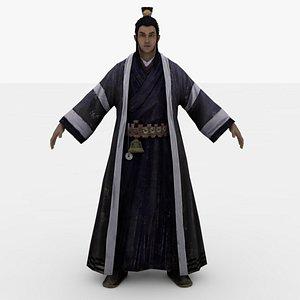 Dao Zhang warrior Rigged model