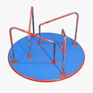 3D model Merry-go-round carousel 02