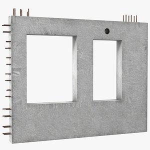 3D precast wall panel model