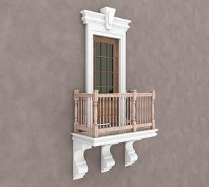 Balcony Glass Door 3 model