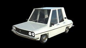 Cartoon Car Toros White 3D model