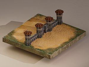 Castle Wall Level 10 3D model