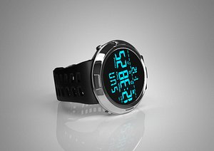 Electronic watch electronic watch watch watch watch watch clock clock pedometer Swiss watch quartz w 3D model