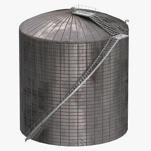 Industrial Site Silo 01 3D