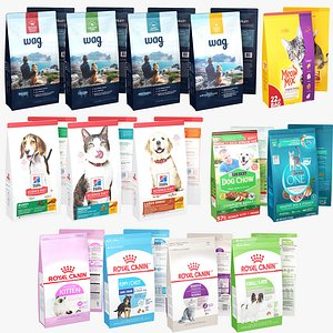 3D Package Pet Food Collection 14 in 1 model