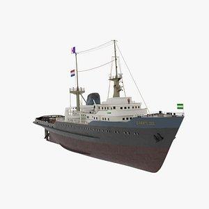 tug ship vessel model