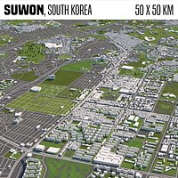 Suwon South Korea 50x50km