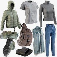 jacket jeans pullover backpack 3D