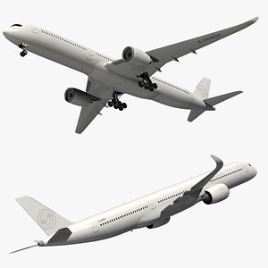 airbus a350 white 3D model