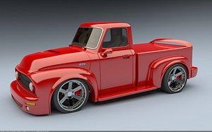 f-100 truck custom 3D