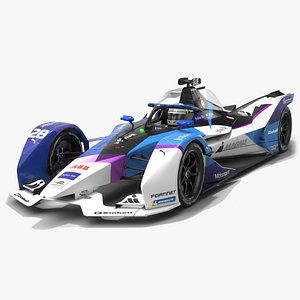 3D Andretti Motorsport Formula E Season 2020 2021 Race Car