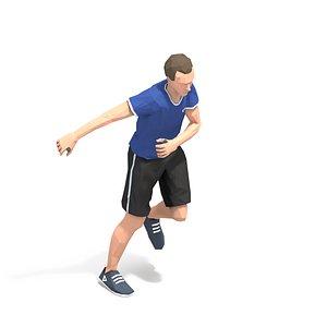 3D exercise man