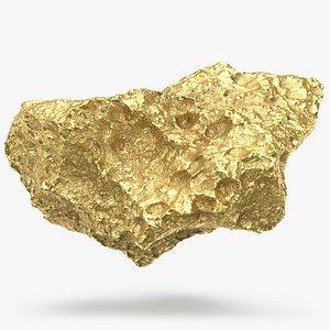 Gold Nugget 01 3D model