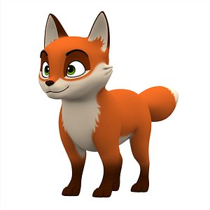 3D model Red Fox