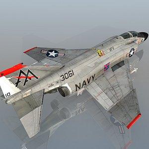 F4 B NAVY Phantom II Red Rippers VF-11 USS Forrestal 3D