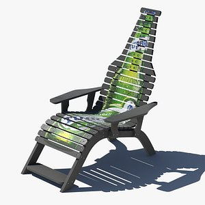 Outdoor garden chair 3D model