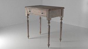 3D Classic Vintage Table