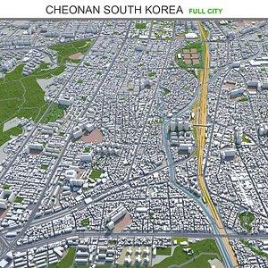 3D Cheonan South Korea model