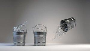 bucket liquid splash 3D
