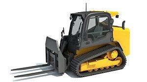 3D model tracked skid steer loader