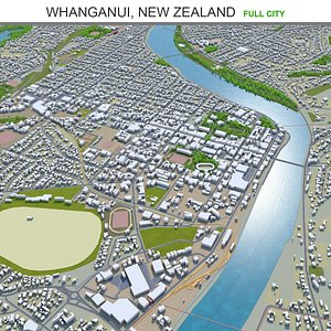 3D model Whanganui New Zealand
