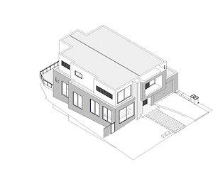 3D single house  drawings Building submission - blue prints - building permit by revit