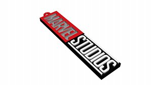 3D marvel studios logo keychain