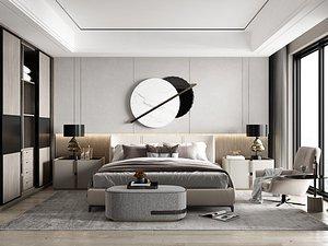 3D Modern Style Bedroom - 513 model
