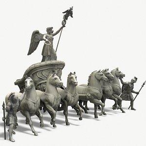 quadriga chariot 3D model