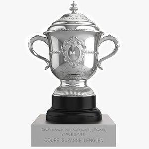 3D model Roland Garros Trophy Suzanne Lenglen Cup