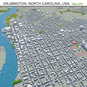 3D model Wilmington North Carolina USA