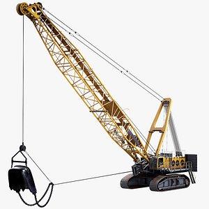 Mining Dragline Excavator Liebherr HS8300 Yellow 3D model