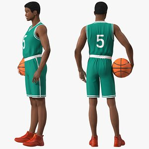 Light Skin Young Man Basketball Player Rigged for Modo 3D