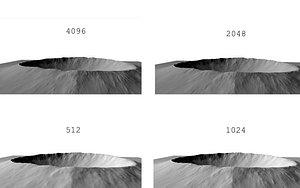crater 3D model