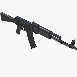 3D model Assault Rifle AK-74M Low-poly