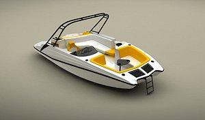 boat speedboat 3D