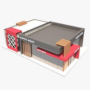 Coffee shop building 3D model