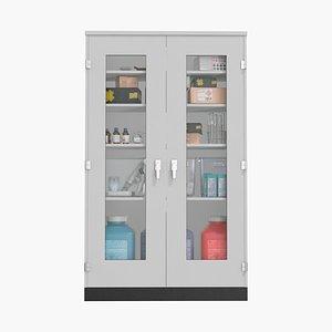 Lab Storage Cabinet 3D model