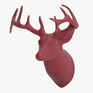 3D stag head