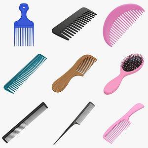 3D Hair combs PBR model